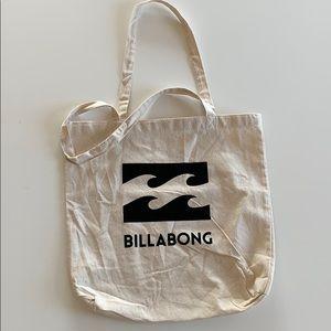 BILLABONG logo canvas bag creme/black medium